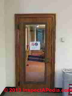 Soundproof door on a music classroom, Vassar College (C) Daniel Friedman