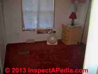 Suspected solvent odor source - carpeting (C) InspectApedia POD