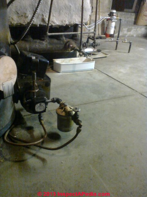 Heating Oil Piping Leaks In The Oil Burner Supply Or