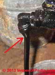 Oil piping leak risk point at flare fitting at oil filter cartridge (C) Daniel Friedman