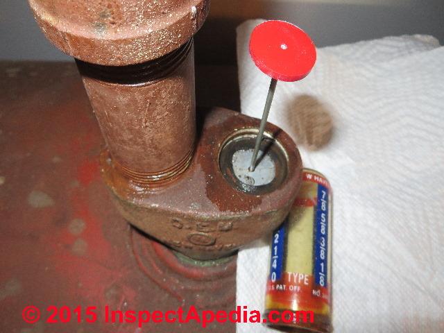 Leaky Oil Tank Gauge Repair Procedures