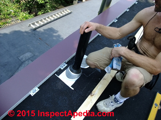 Temporary Roof Vent Flashing While Waiting For Metal Roof Installation (C)  Daniel Friedman Eric ...