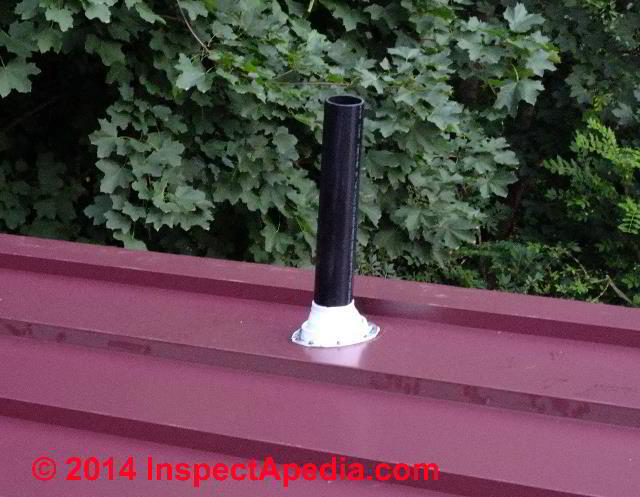 Rooftop Plumbing Vent Repair How To Fix A Snow Or Ice