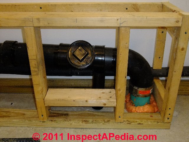 Building plumbing drain cleanouts inspection location for How to run a sewer line