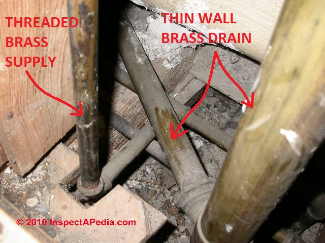 Brass Water Supply Piping Inspection Diagnosis Repair