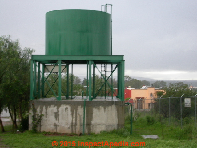Free Standing Water Tanks Water Towers Codes Designs