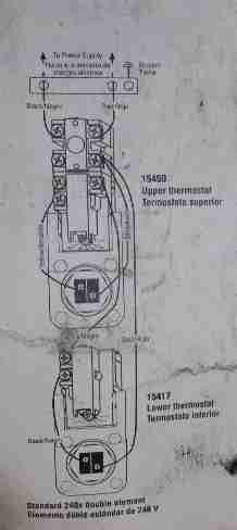 wiring diagram for electric water heater - american water heater co example