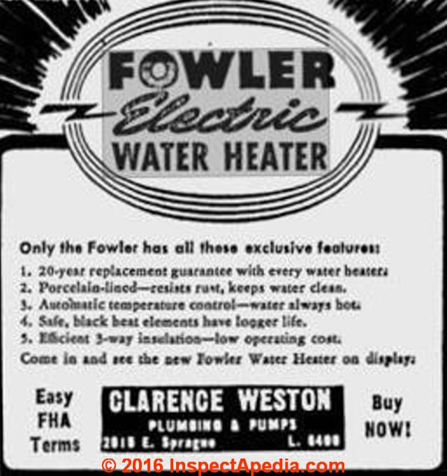 How to find out the age of a hot water heater heating furnace or fowler electric water heater ad c inspectapedia fandeluxe Choice Image