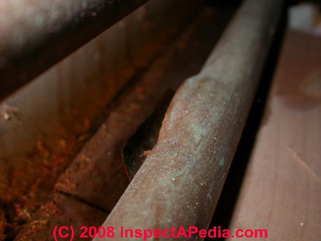 Frozen pipe split pattern (C) Daniel Friedman & Freezing water pipe or plumbing drain pipe burst u0026 leak patterns