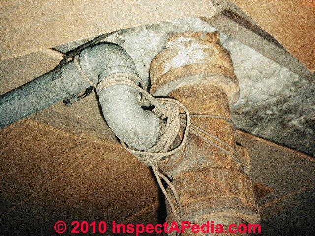 cast iron drain piping identification diagnosis repair