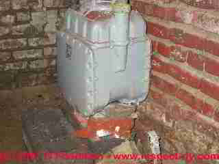 Photograph of a gas meter with corrosion and risk of a leak