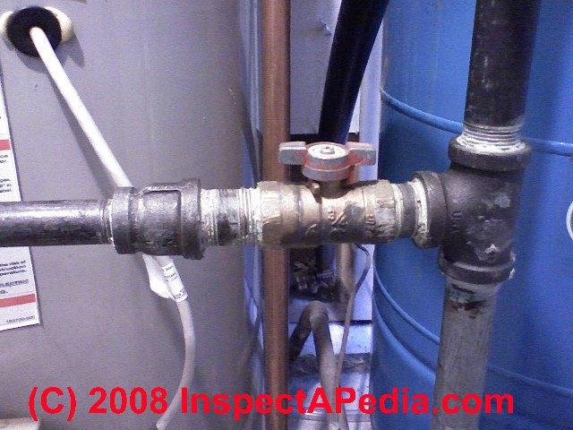 Gas Shutoff Valve On A Water Heater C Daniel Friedman