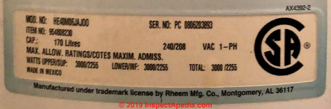 Hotpoint Water Heater Age or Manuals