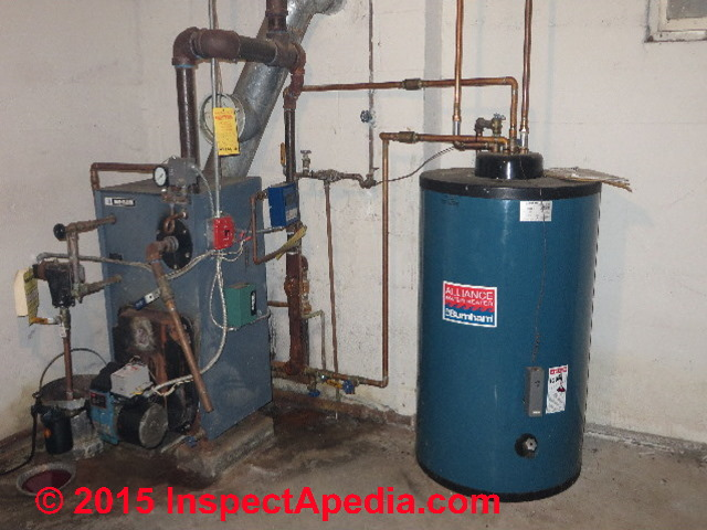 indirect water heater coil leaks location, cause, detection, hazards