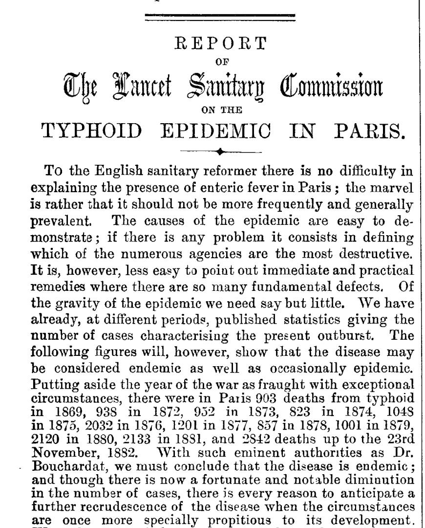 Plumbing traps requirements codes defects sewage odors drain lancet paris france issue 121 1883 citing typhoid epidemic c inspectapedia fandeluxe Images