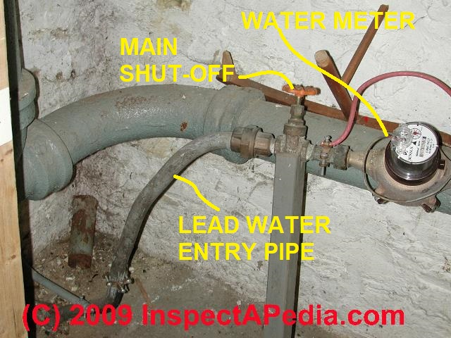 Building water supply pipe whistling or shrieking noise for House water pipes types
