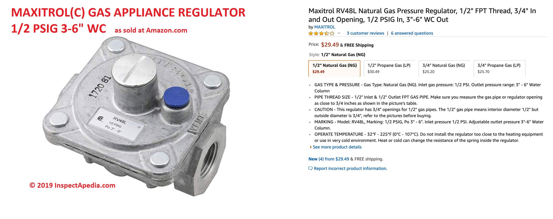 LP or Natural Gas Pressure Regulator Adjustment Procedures