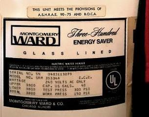 Montgomery Ward Water Heater Age Decoder Montgomery Ward