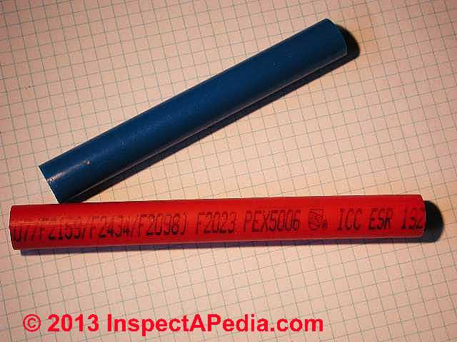 Installation specifications inspection testing plastic for Pex vs copper water pipes