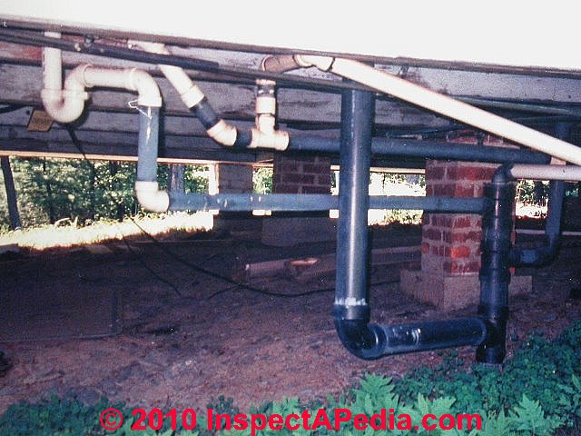 Installation specifications inspection testing plastic for Plastic plumbing pipes