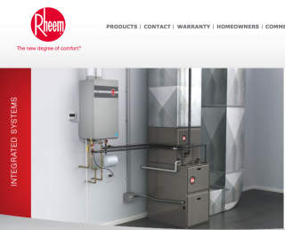 Rheem tankless water heater photo at InspectApedia.com