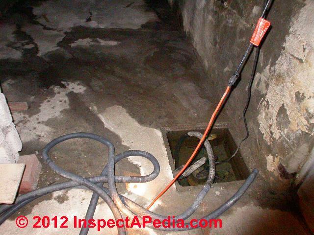 Illegal sump pump hook up