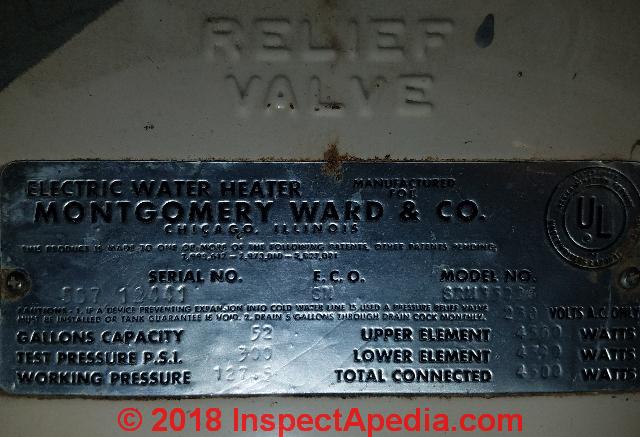 montgomery ward water heater age decoder montgomery ward water rh inspectapedia com