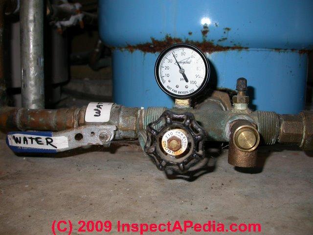 water shutoff valve at pressure tank c daniel friedman