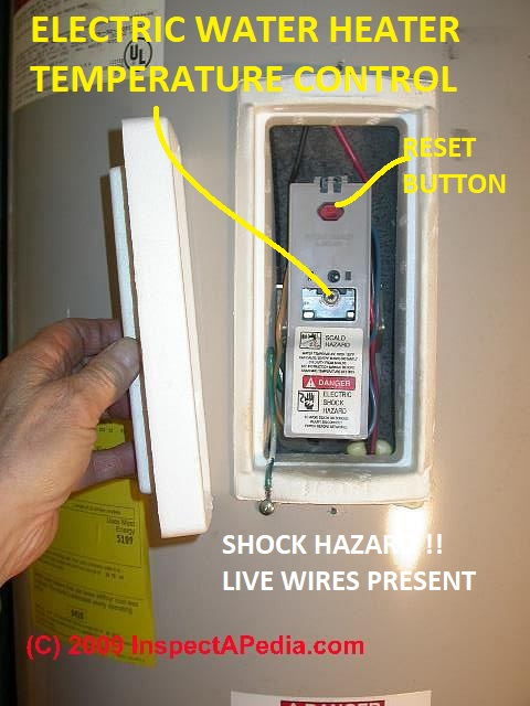 electric water heater heating element replacement procedure