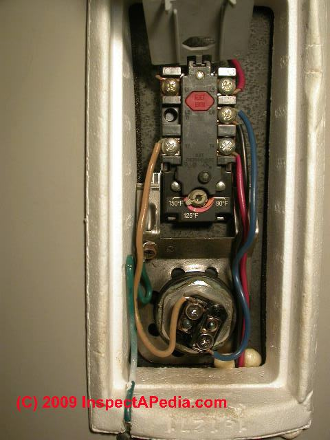Electric water heaters: how to inspect, test, & repair an electric hot water heater; heating thermostast & heating element test & replacement