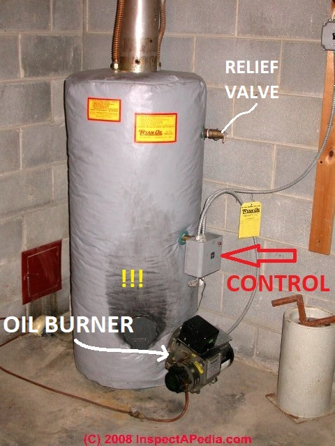 Oil Furnace Hot Water Boiler ~ Guide to oil fired hot water heaters inspection