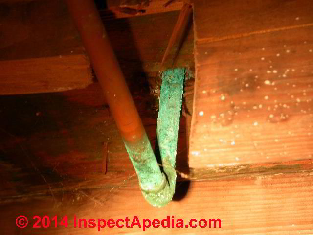 Inspect Copper Pipes For Corrosion Caused Leaks