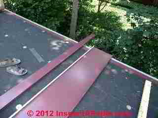 Peel and stick roof underlayment (C) Daniel Friedman Eric Galow