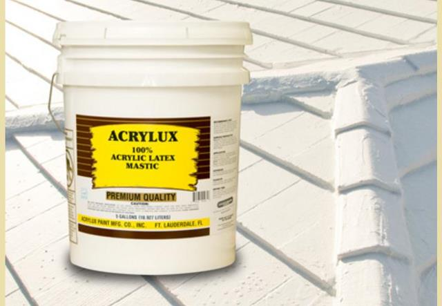 Acrylux Roof Sealant Mastic   Acrylux.com At InspectApedia.com