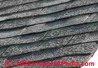 Roof Hail Damaged Asphalt Roof Shingles Distinguished From