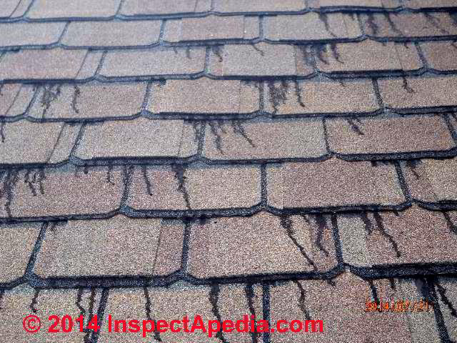 Asphalt Shingle Sealant Or Laminated Tab Bleed Black Tarry