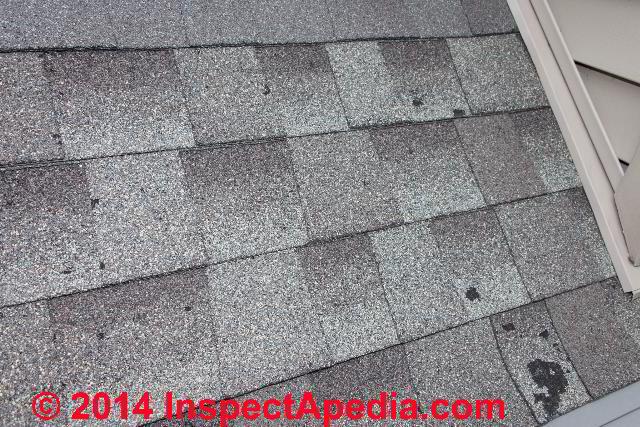 Asphalt Roof Shingle Storm Or Hail Damage Identification