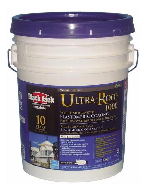 Black Jack Ultra Roof Elastomeric Reflective Roof Coating From Black Jack,  At InspectApedia.com