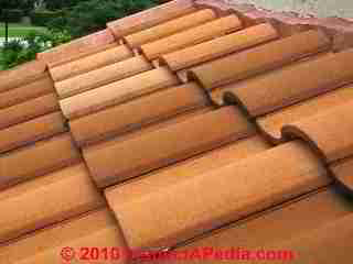 Clay roof tiles Patzcuaro Mexico (C) Daniel Friedman