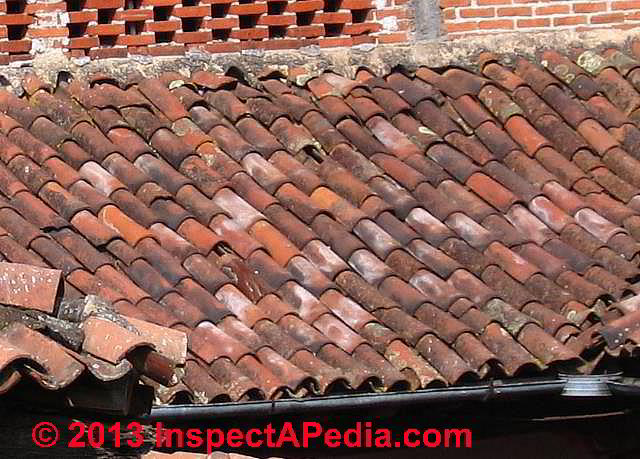 Clay tile roof damage leaks or wear inspection causes for Clay tile roofs