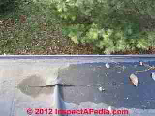 EPDM rubber roof installation and repair details (C) Daniel Friedman Eric galow