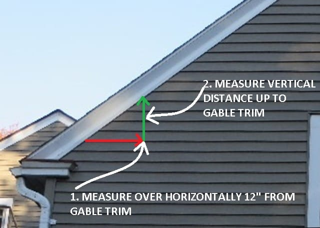 How To Measure Roof Slope At The Building Gable End (C) Daniel Friedman