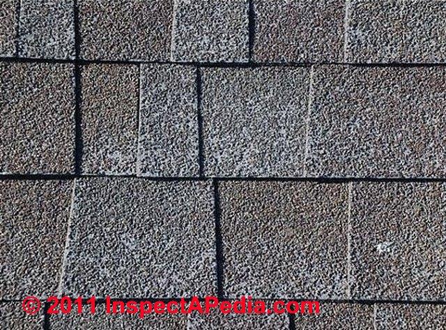 Roof Hail Damaged Asphalt Roof Shingles Distinguished From