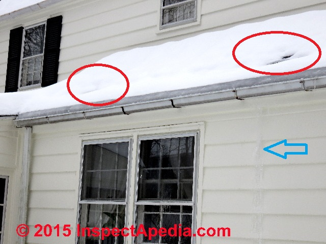 Emergency Procedures To Roof Or Gutter Ice Dam Leaks