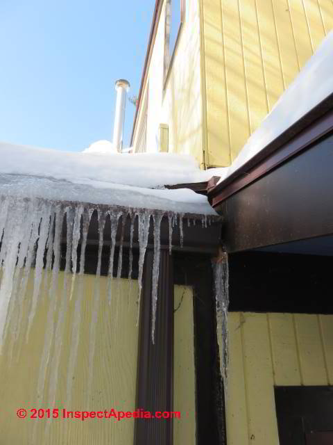... Roof ice dam leak diagnosis and repair for flat roofs (C) Daniel  Friedman