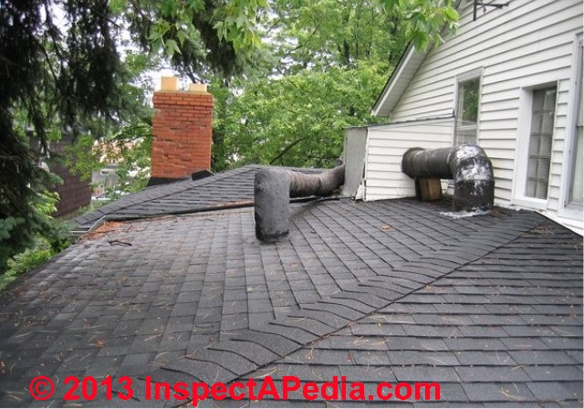 Ridge Hip Cap Shingles Installation Inspection Failure Diagnosis At Roof Ridges Hips