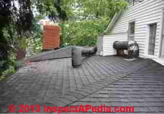 Hip cap shingles on a low slope roof (C) Daniel Friedman