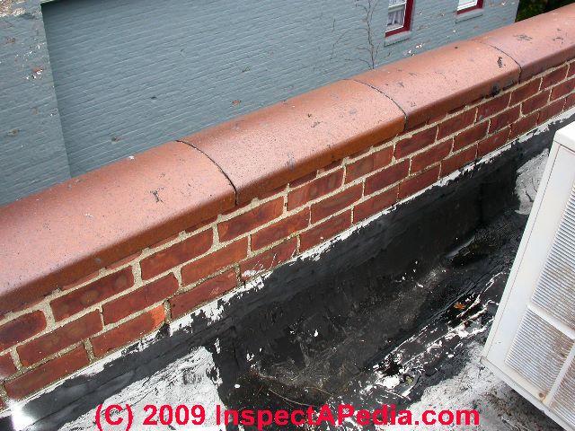 Low Slope Roof Parapet Wall Leaks (C) Daniel Friedman