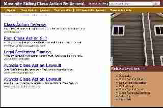 Masonite roof settlement notice and claims website (not useful) (C) InspectApedia
