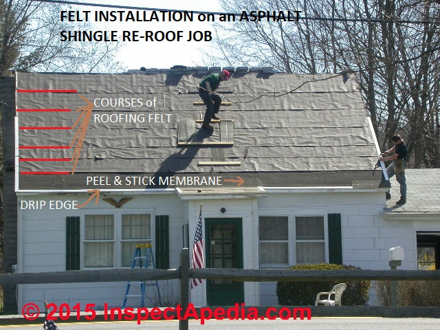 Bald Worn Out Organic Asphalt Roof Shingles Double Vs Single Underlayment
